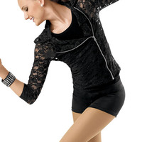 Stretch Lace Motorcycle Jacket; Weissman Costumes