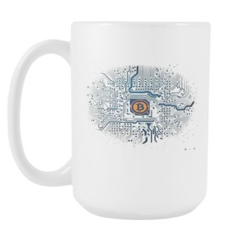 Bitcoin Motherboard Tall Mug