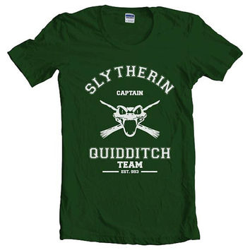 Team Captain Slytherin Quidditch women short sleeves t-shirt tee