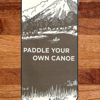 Paddle Your Own Canoe Vintage Ad Rubber phone case fits iPhone 4/4s/5/5s, Galaxy S3/S4. PLASTIC phone case fits iPhone 5c , Galaxy S5