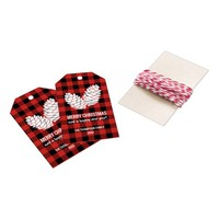 Merry Christmas Red Buffalo Gingham Gift Tags