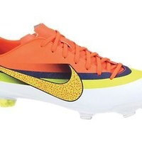Nike CR Youth Mercurial Vapor IX Soccer Cleats (White/Loyal Blue/Total Crimson/Volt) (3Y)