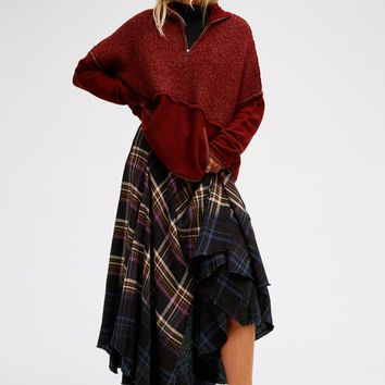 Free People Dipped In Dreams Plaid Maxi