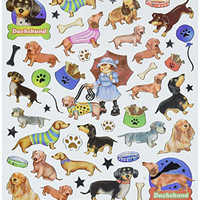Multi-Colored Stickers-Dachshunds