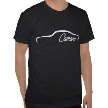 1969 Chevrolet Camaro SS White silhouette Tee Shirts from Zazzle.com