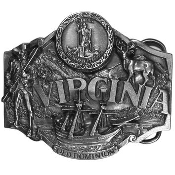 Sports Accessories - Virginia Antiqued Belt Buckle