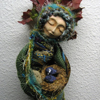 Moon Enchantment. Bohemian Spirit, assemblage mixed media by Griselda