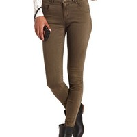 Refuge High Waist Colored Skinny Jean: Charlotte Russe