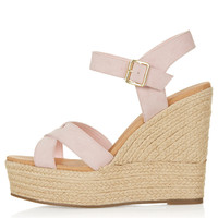 WHISPERED Cross Over Wedges - Heels - Shoes - Topshop USA