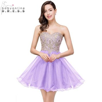 Robe demoiselle D'honneur Sexy Backless Lavender Lace Chiffon Short Bridesmaid Dresses 2017 Vestido de Festa de Casamento