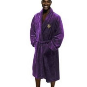 "Minnesota Vikings NFL 26""x 47"" Large/Extra Large Silk Touch Men's Bath Robe"