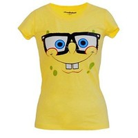 SpongeBob Nerd Face Junior Tee