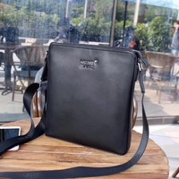 MONT BLANC MEN'S NEW STYLE LEATHER CROSS BODY BAG