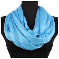 Delicate Days Lightweight 100% Rayon Turquoise Infinity Scarf