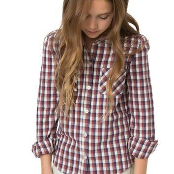 O'Neill Tahoe Plaid Flannel Shirt (Little Girls & Big Girls) | Nordstrom