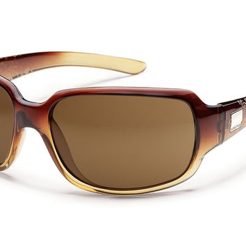 Suncloud Cookie Brown Fade Laser Sunglasses, Brown Polarized Lenses