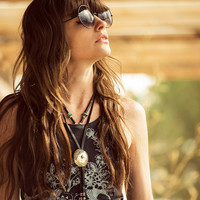 Wild Flower Buffalo Tee - Charcoal | Spell & the Gypsy Collective