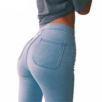 High Rise Summer Clean Skinny Jeans