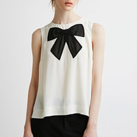 Chiffon Bow Applique Top