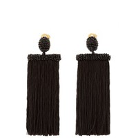 Waterfall tassel-drop clip-on earrings | Oscar De La Renta | MATCHESFASHION.COM US