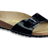 Madrid Black Patent Birko-Flor Sandals | Birkenstock USA Official Site