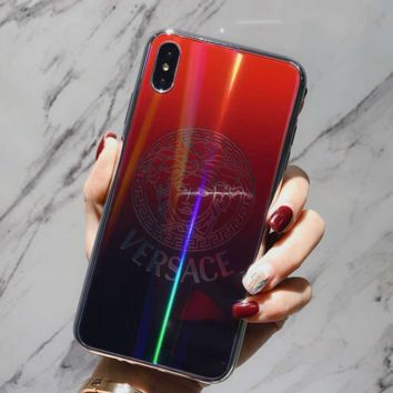 Fashion VERSACE Laser Case For iPhone 6 6s 6plus 6s-plus 7 7plus iphone 8 iphone X XS Max XR