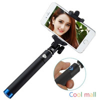 Wired Selfie Stick Handheld Monopod Built-in Shutter Extendable = 1946112708