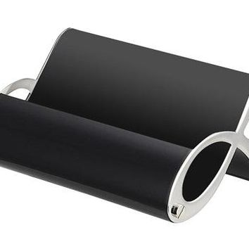 Free Engraving Personalization Black and Silver Business Card Holder