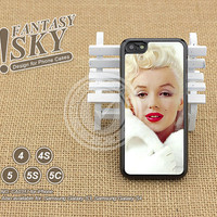 iPhone Case iPhone 5 case iPhone 5C Case iPhone 5S case iPhone 4 Case, Marilyn Monroe, Phone Cases, Phone Covers Skins - A0317