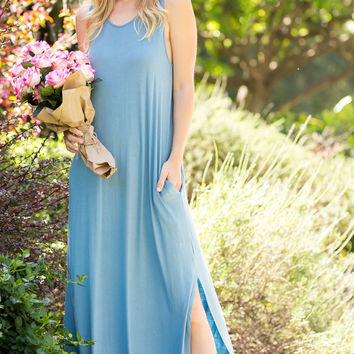Twist Cut-Out Back Maxi Dress