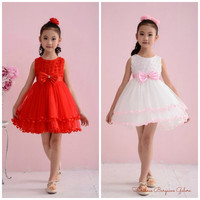 Lovely Girls Sleeveless Wedding/Party/Birthday Occasion Summer Children Kids Dress