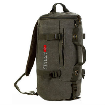 2016 Aerlis Backpack Canvas Military  Mochilas  School Bag Bookbag Travel Water Bottle Kettle Pouch Carry Bag