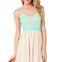 Lace Luna Dress in Mint - ShopSosie.com