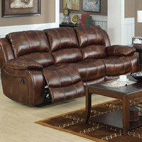 Mt. Washington Leather Reclining Sofa - Sears
