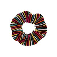 MDIGMS9 Sonia Rykiel Girls Colorful Striped Velvet Scrunchie