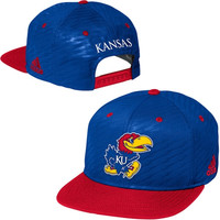 Kansas Jayhawks adidas 2014 Mens Players Adjustable Performance Hat – Royal Blue