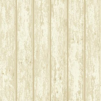 Brewster Wallpaper CG66424 Athena Grey Faux Weathered Wood