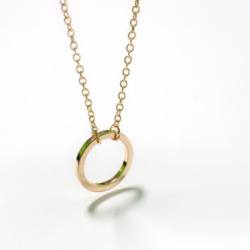 Circle Necklace | Mini Open Circle Pendant