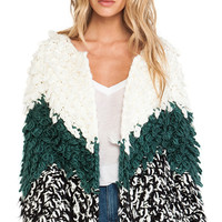 Tularosa Dylan Knit Coat in Ivory