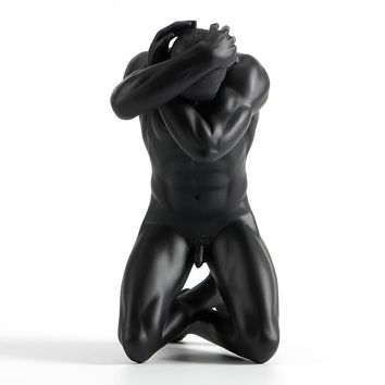 Resin creative ornaments body art modern nude male masculine sculpture soft home furnishings
