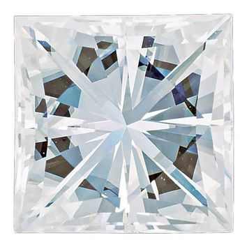 Square Brilliant Princess Cut Forever One™ Moissanite Gemstone - Colorless (D-E-F)