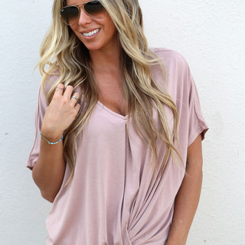 All Knotted Up Top {Blush}
