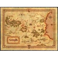 Narnia Map poster Metal Sign Wall Art 8in x 12in