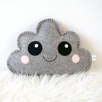 Cute Cloud Pillow, kawaii pillow, Cloud Softie, baby girl Nursery Decor, newborn gift idea