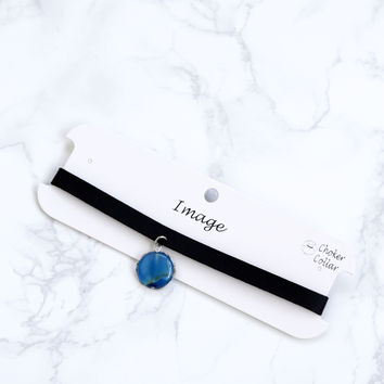 Castille Choker With Stone, Blue