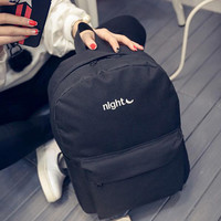 New Promotion canvas Korean simple solid color canvas shoulder bag men and women shoulder bag lovers backpack Harajuku