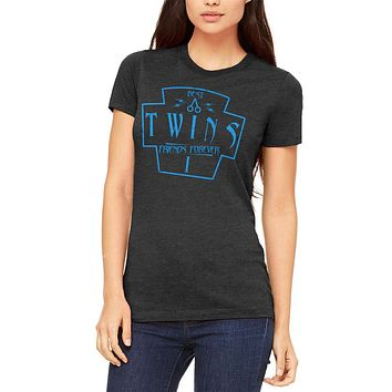 Twins Best Friends Forever Distressed First Juniors Soft T Shirt