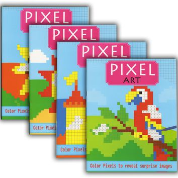 PIXEL ART COLOR BY NUMBER Coloring Books Case Pack 48