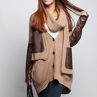 Large size women's knit cardigan BAHC