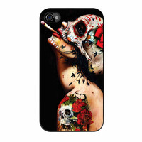 Floral Sugar Skull Tattooed iPhone 4 Case